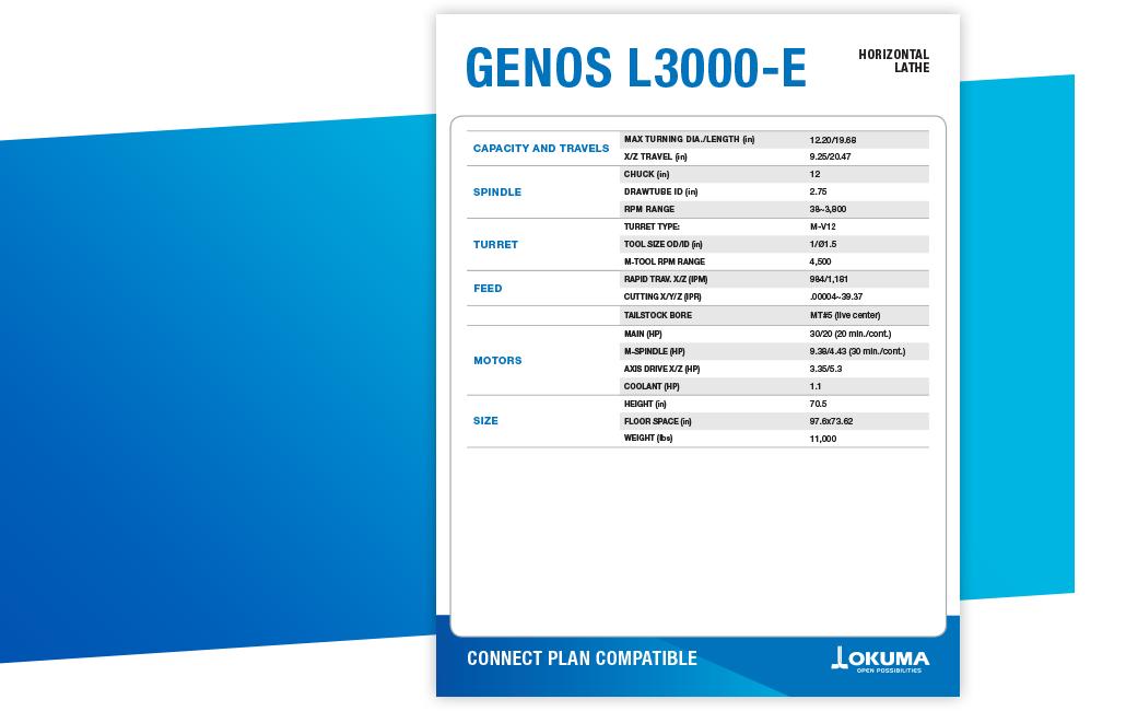 Okuma GENOS L3000-e Spec Sheet